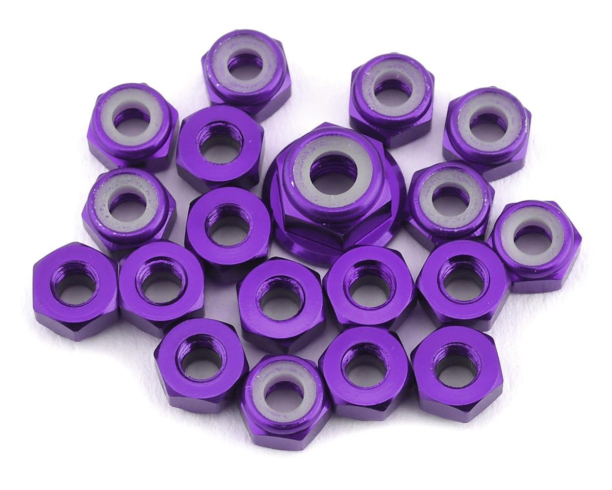 175RC TLR 22 5.0 Aluminum Nut Kit (Purple) (19)