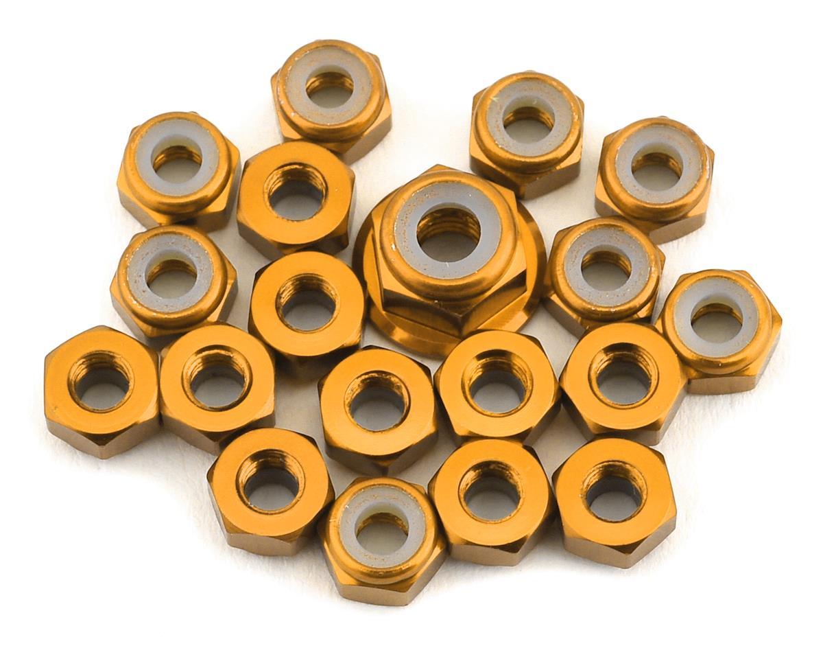 175RC TLR 22 5.0 Aluminum Nut Kit (Gold) (19)