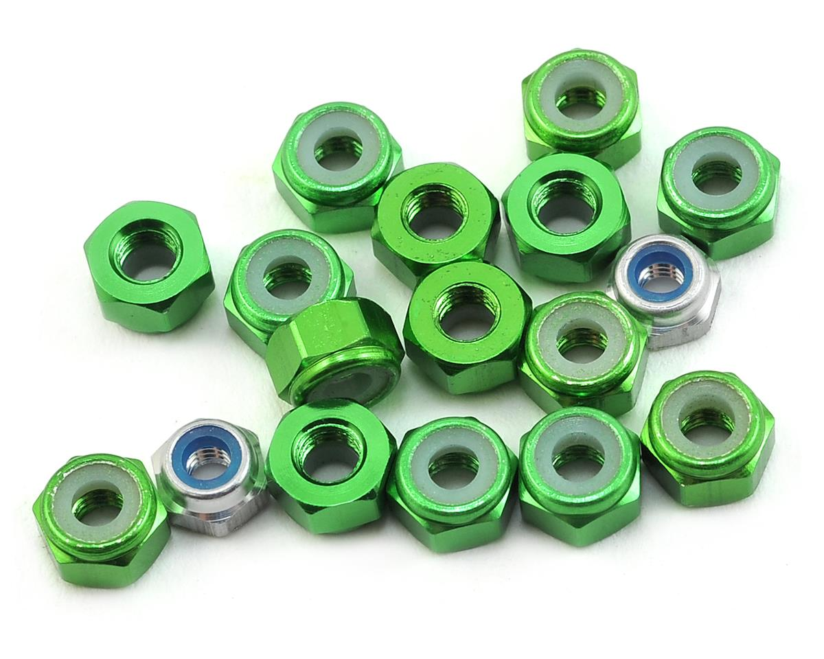 175RC Aluminum TLR 22 4.0 SR Lightweight Nut Kit (Green) (17)