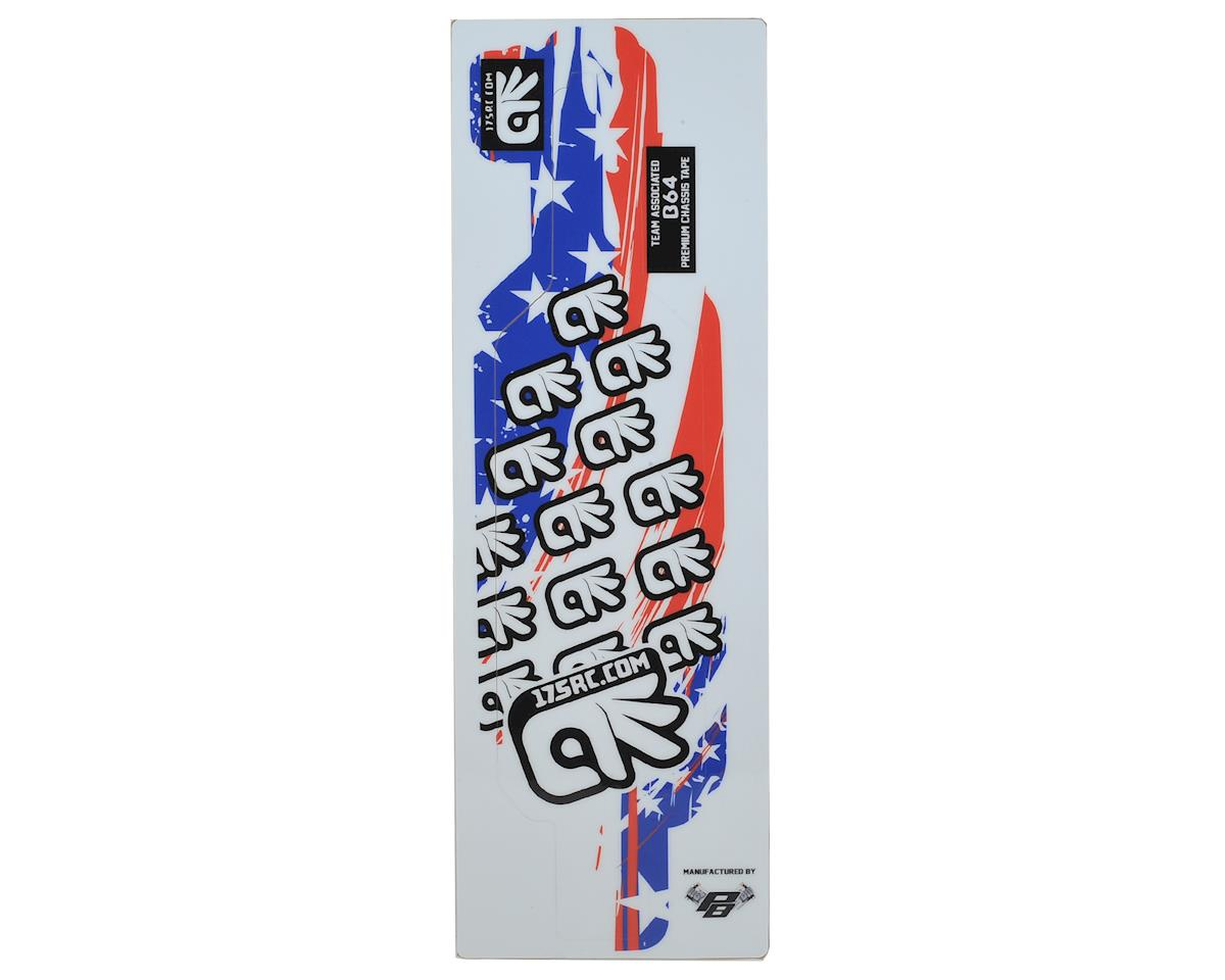 175RC B64/B64D Chassis Skin (Red, White, Blue, Stars)