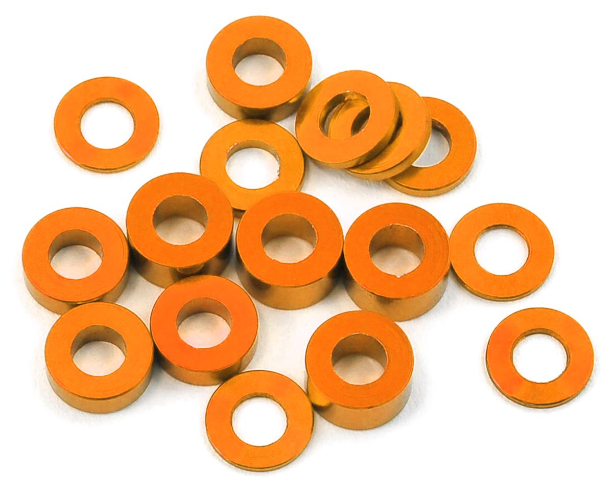 175RC M3 Ball Stud Washers (16) (Orange) (Team Associated TC7)