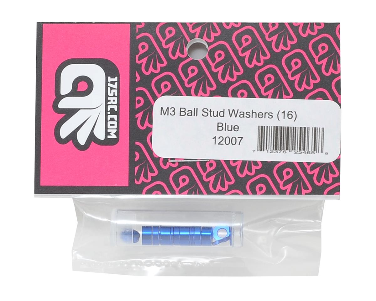 175RC M3 Ball Stud Washers (16) (Blue)