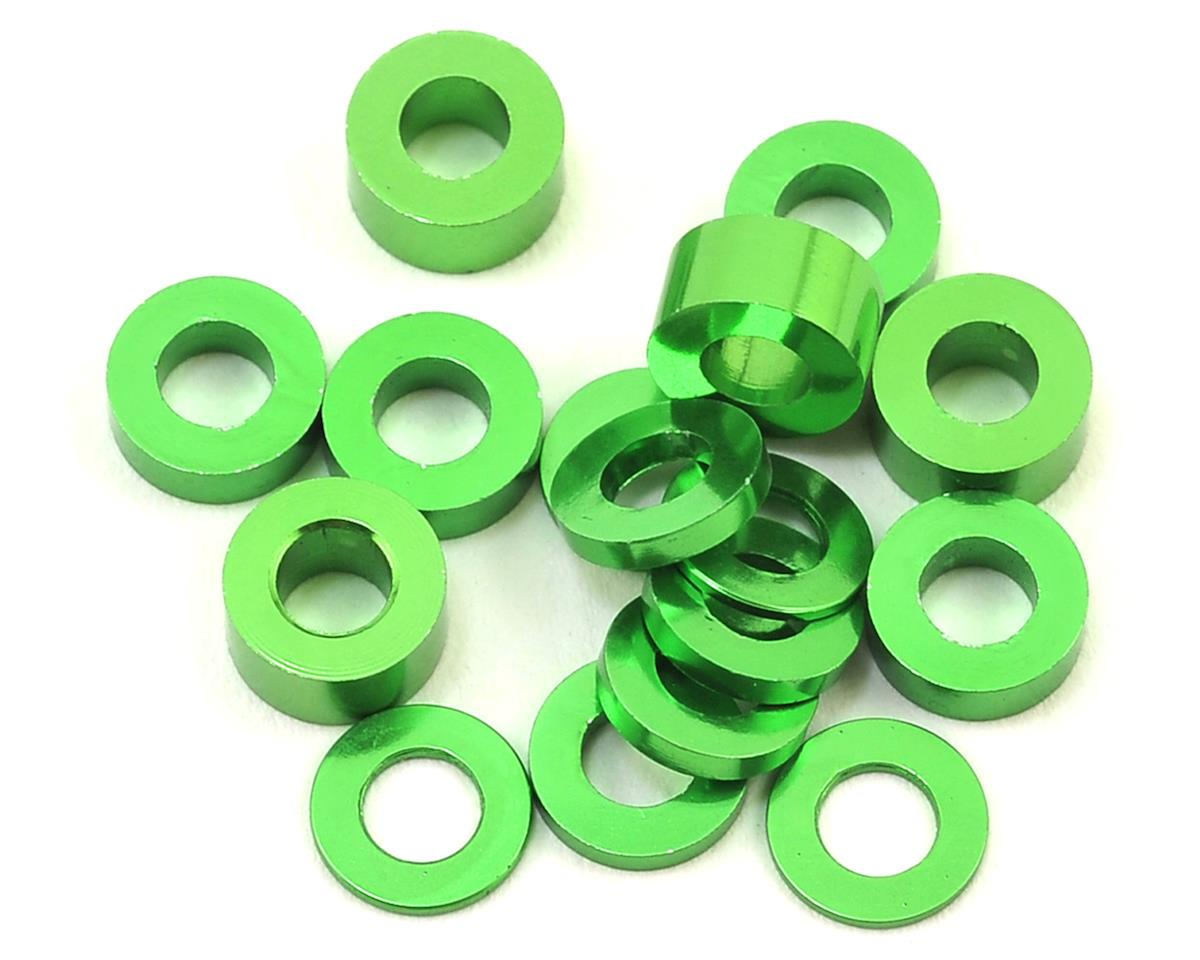 175RC M3 Ball Stud Washers (16) (Green) (Team Associated TC7)