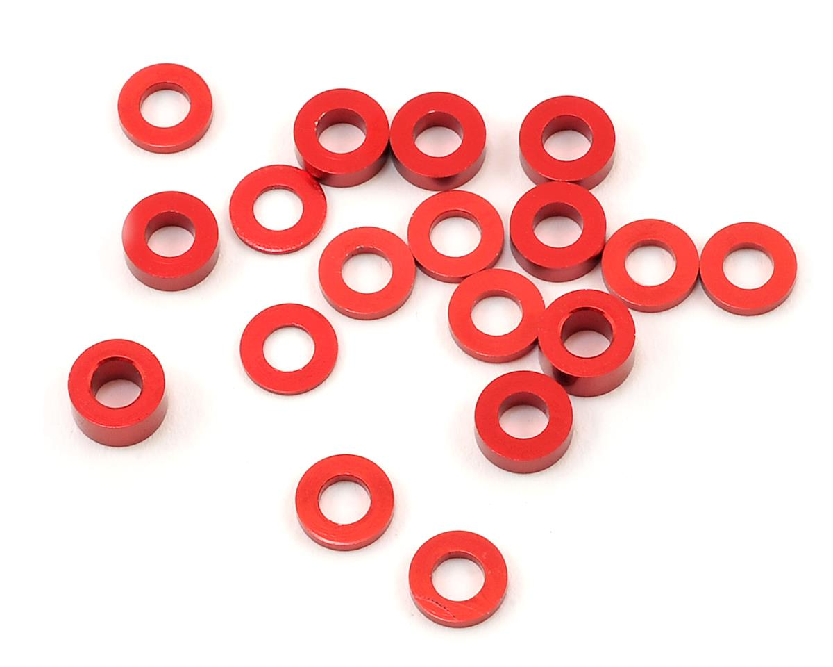Kyosho RB6.6 Machined Hub Spacers (Red) (18) by 175RC