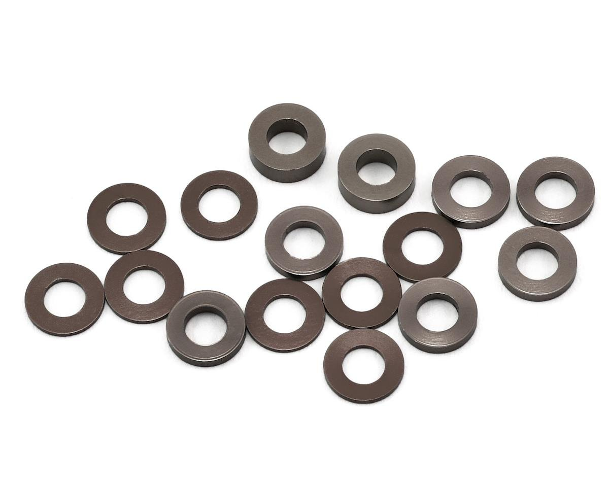 175RC B6/B64/YZ2 Aluminum Hub Spacer Set (Grey)