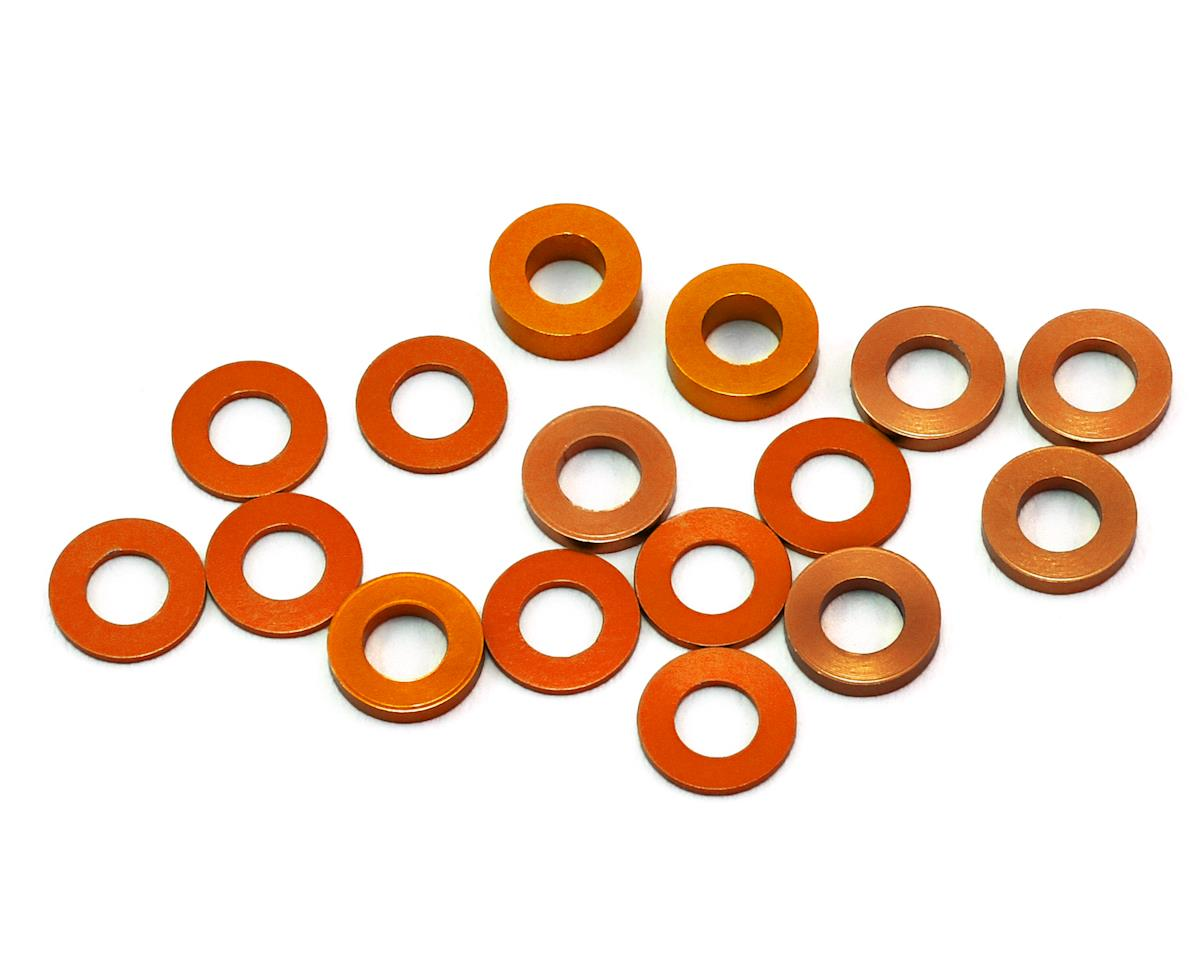 B6/B64/YZ2 Aluminum Hub Spacer Set (Orange) by 175RC