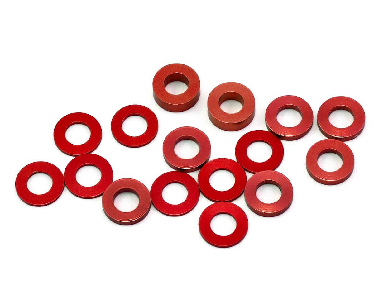 175RC B6/B74/YZ2 Aluminum Hub Spacer Set (Red)