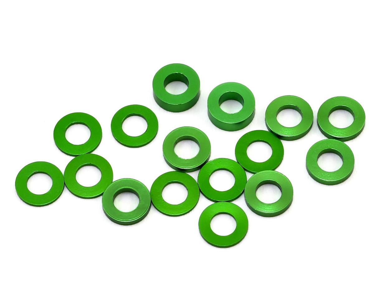175RC B6/B74/YZ2 Aluminum Hub Spacer Set (Green)