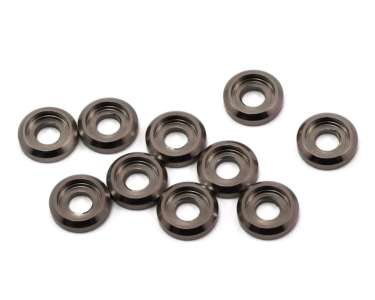 Aluminum Button Head Screw High Load Spacer (Grey) (10) by 175RC