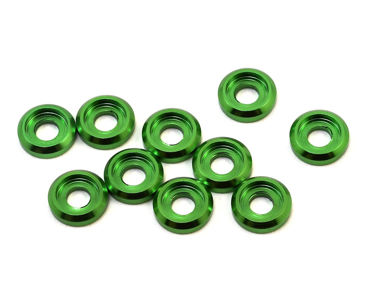 Aluminum Button Head Screw High Load Spacer (Green) (10) by 175RC