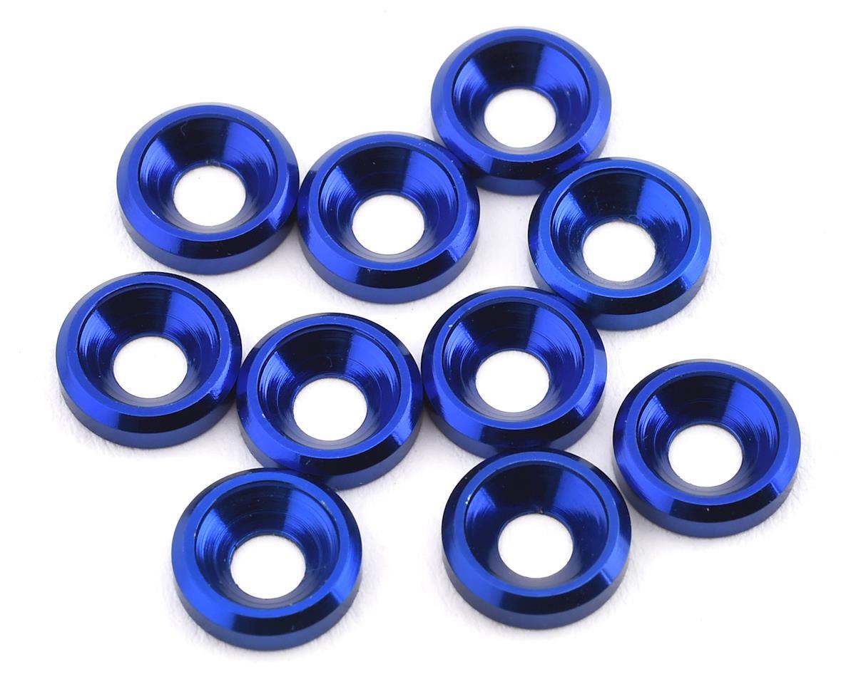 175RC Aluminum Flat Head High Load Spacer (Blue) (10)