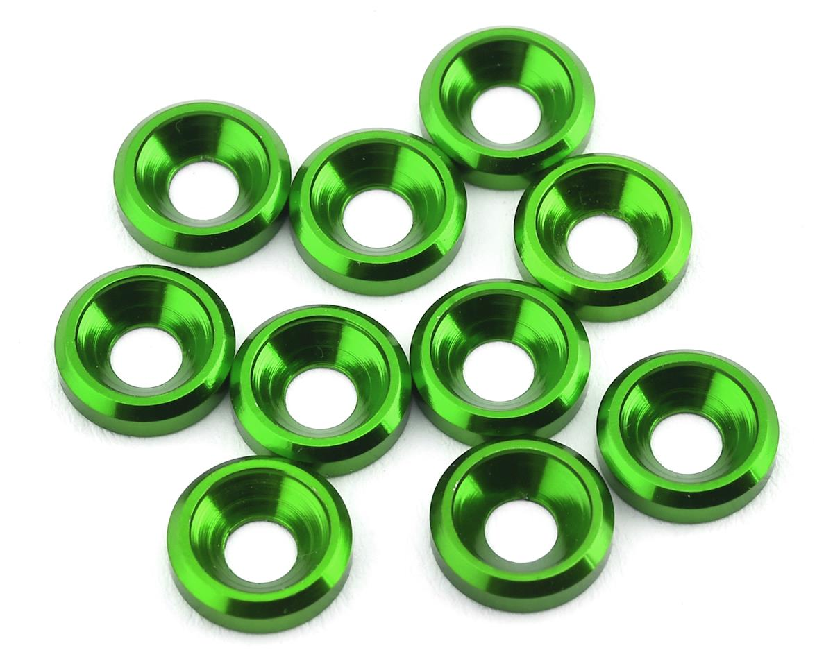 175RC Aluminum Flat Head High Load Spacer (Green) (10)