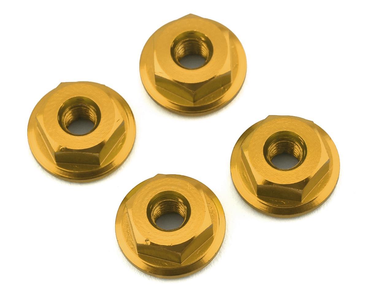 175RC Mini-T 2.0 Serrated Wheel Nuts (4) (Gold)