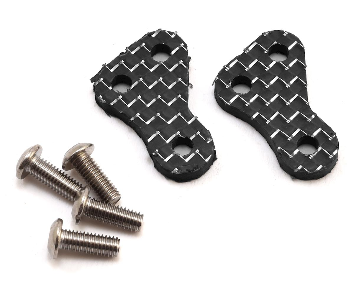 175RC B6.1/B6.1D Carbon +1.5 Steering Block Arms (Silver) (2)