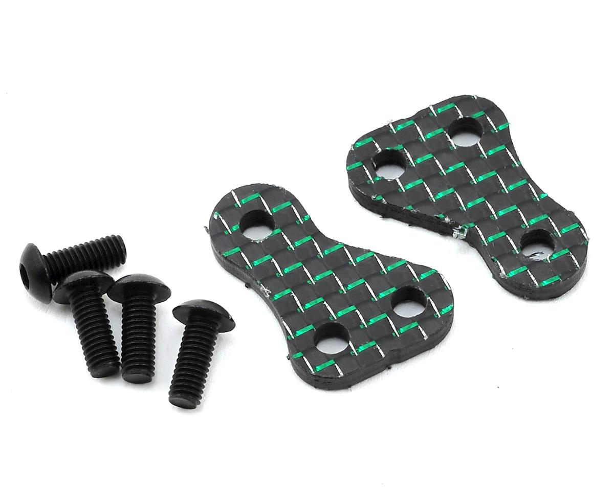 "175RC B6/B6D Carbon ""Money"" +1.5 Steering Block Arms (2) (Green)"