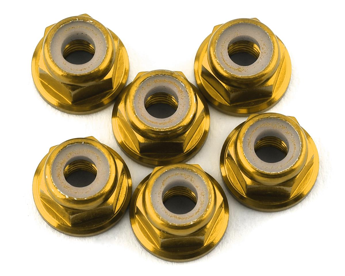 175RC Lightweight Aluminum M3 Flanged Lock Nuts (Gold) (6)