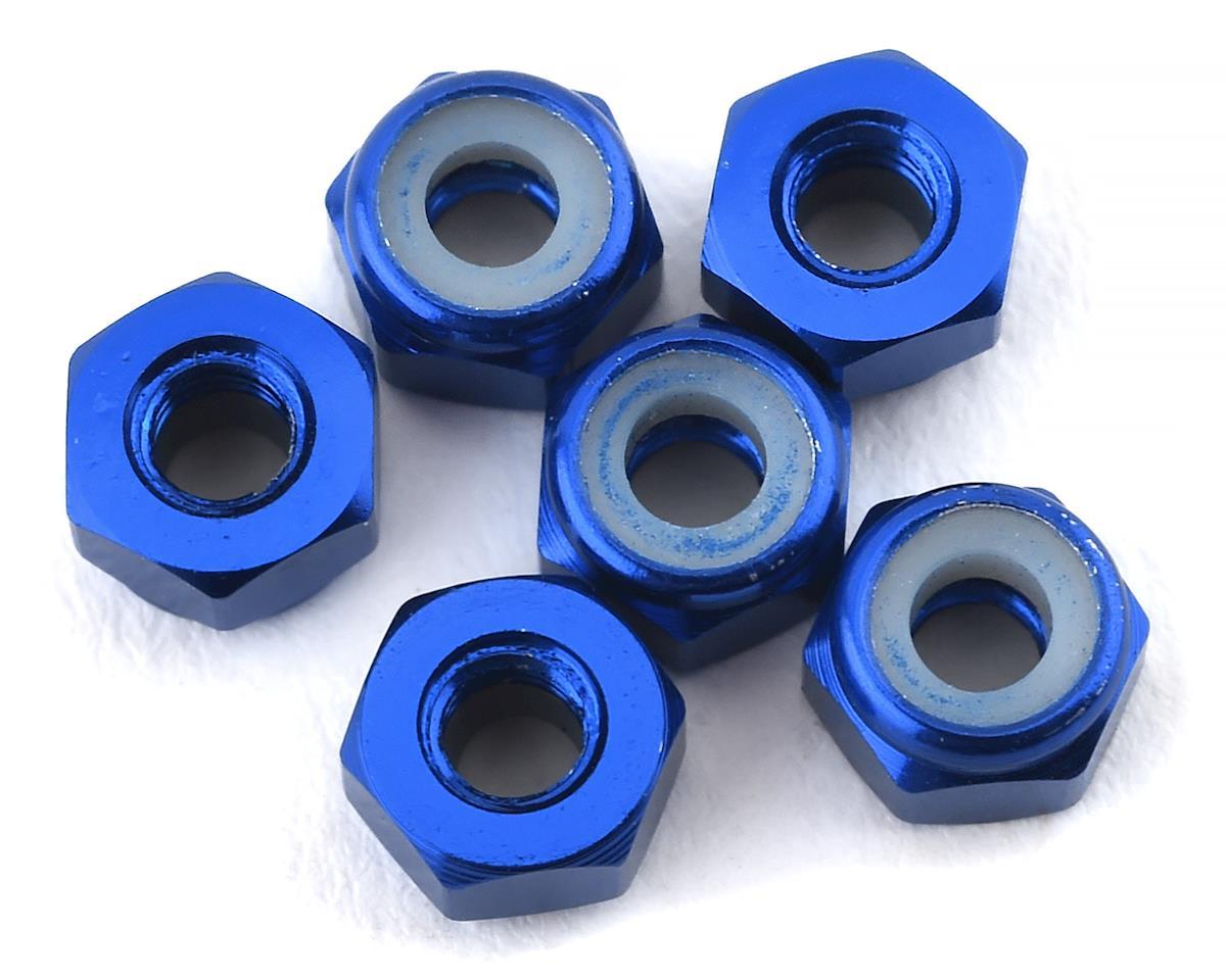 175RC Lightweight Aluminum M3 Lock Nuts (Blue) (6)