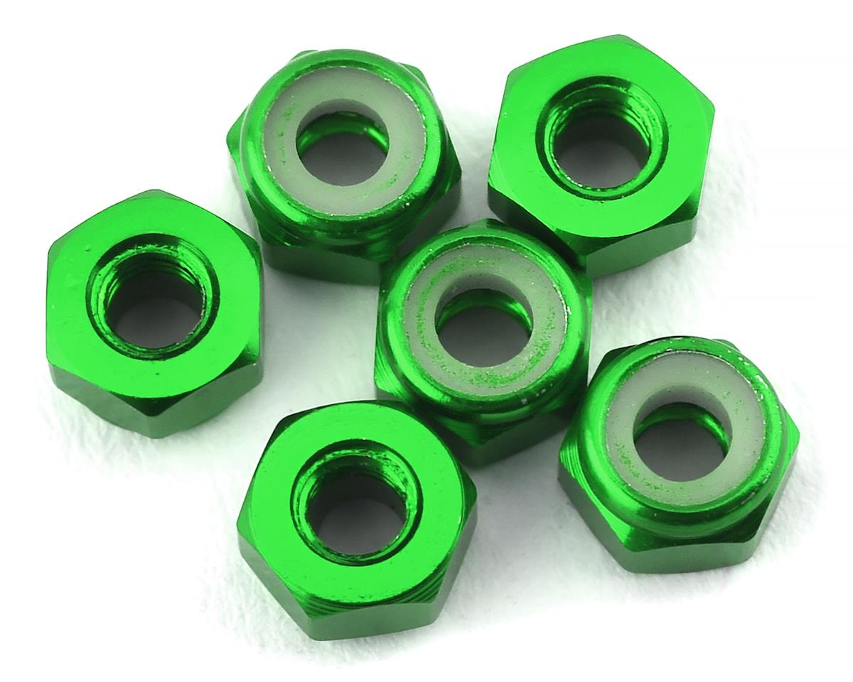 175RC Lightweight Aluminum M3 Lock Nuts (Green) (6)