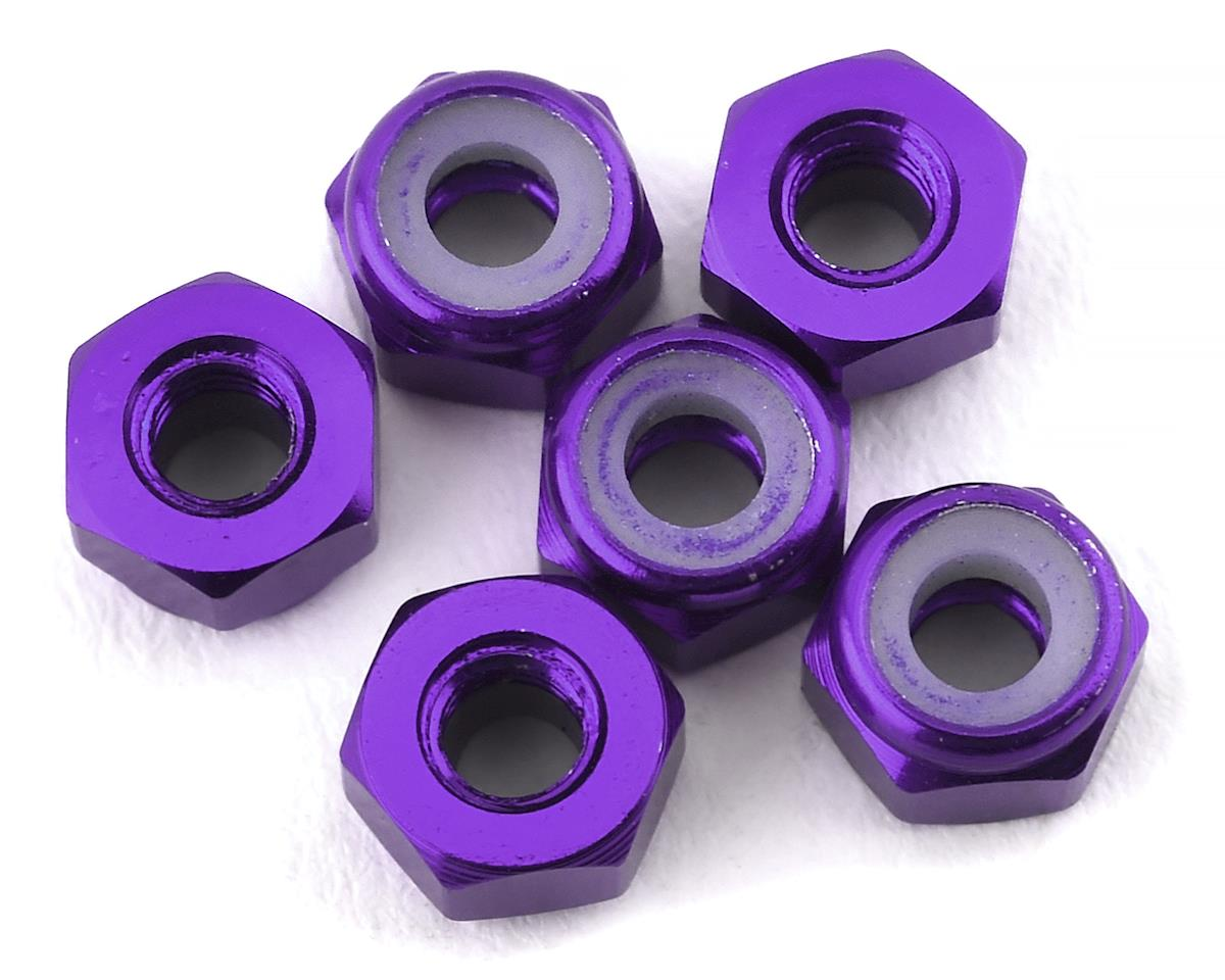 175RC Lightweight Aluminum M3 Lock Nuts (Purple) (6)