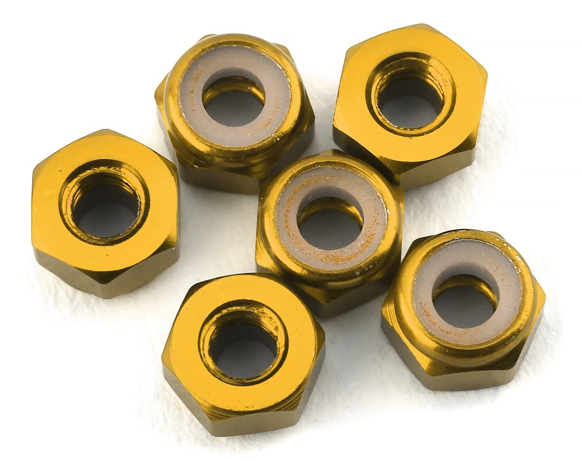 175RC Lightweight Aluminum M3 Lock Nuts (Gold) (6)