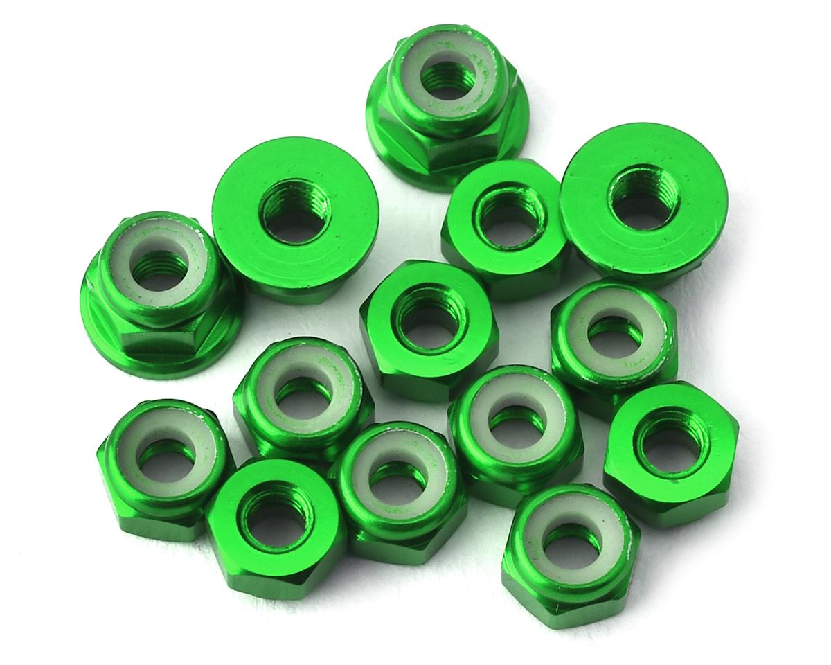 175RC RC10B74 Aluminum Nut Kit (Green) (14)