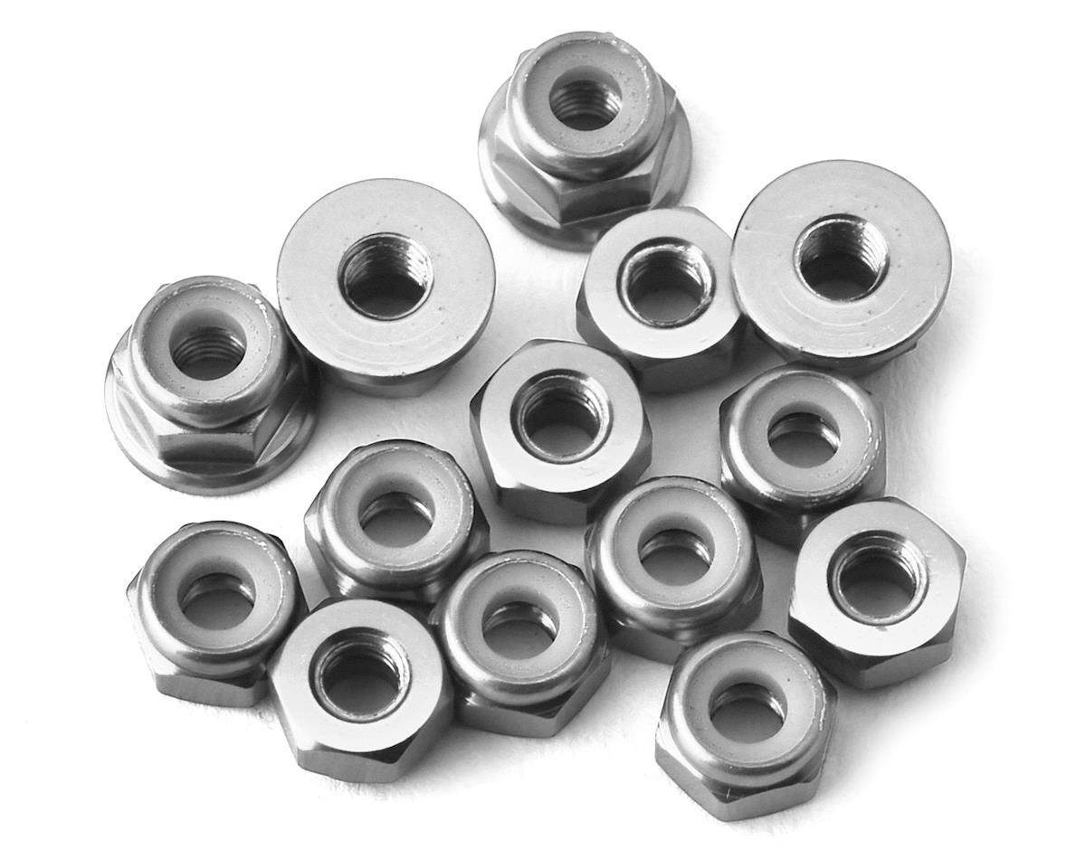 175RC RC10B74 Aluminum Nut Kit (Silver) (14)