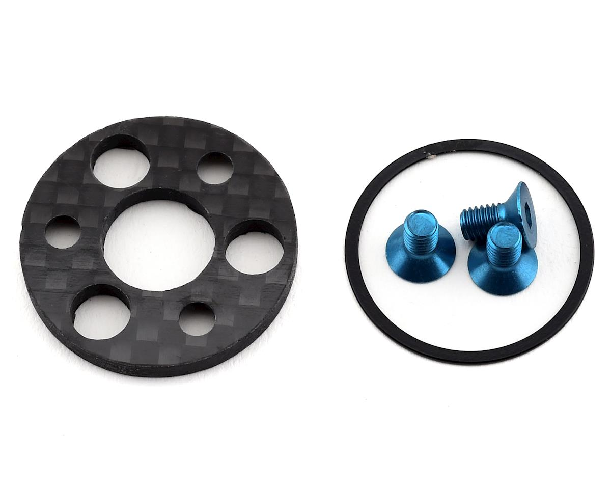 1UP Racing TC7.2 Carbon Center Pulley & Spur Plate Set