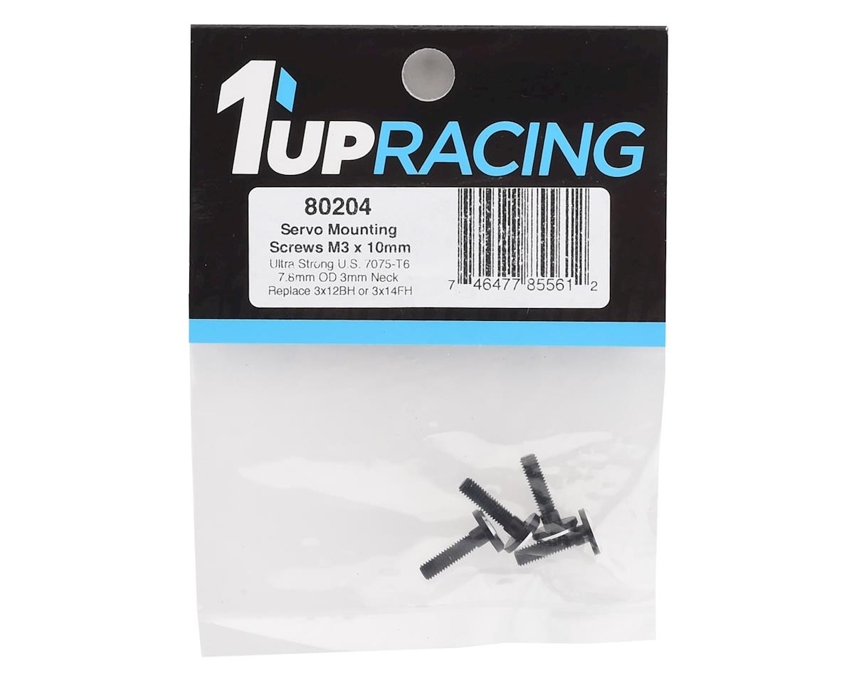 Image 2 for 1UP Racing 3x10mm Aluminum Servo Mounting Screws w/3mm Neck (Black) (4)