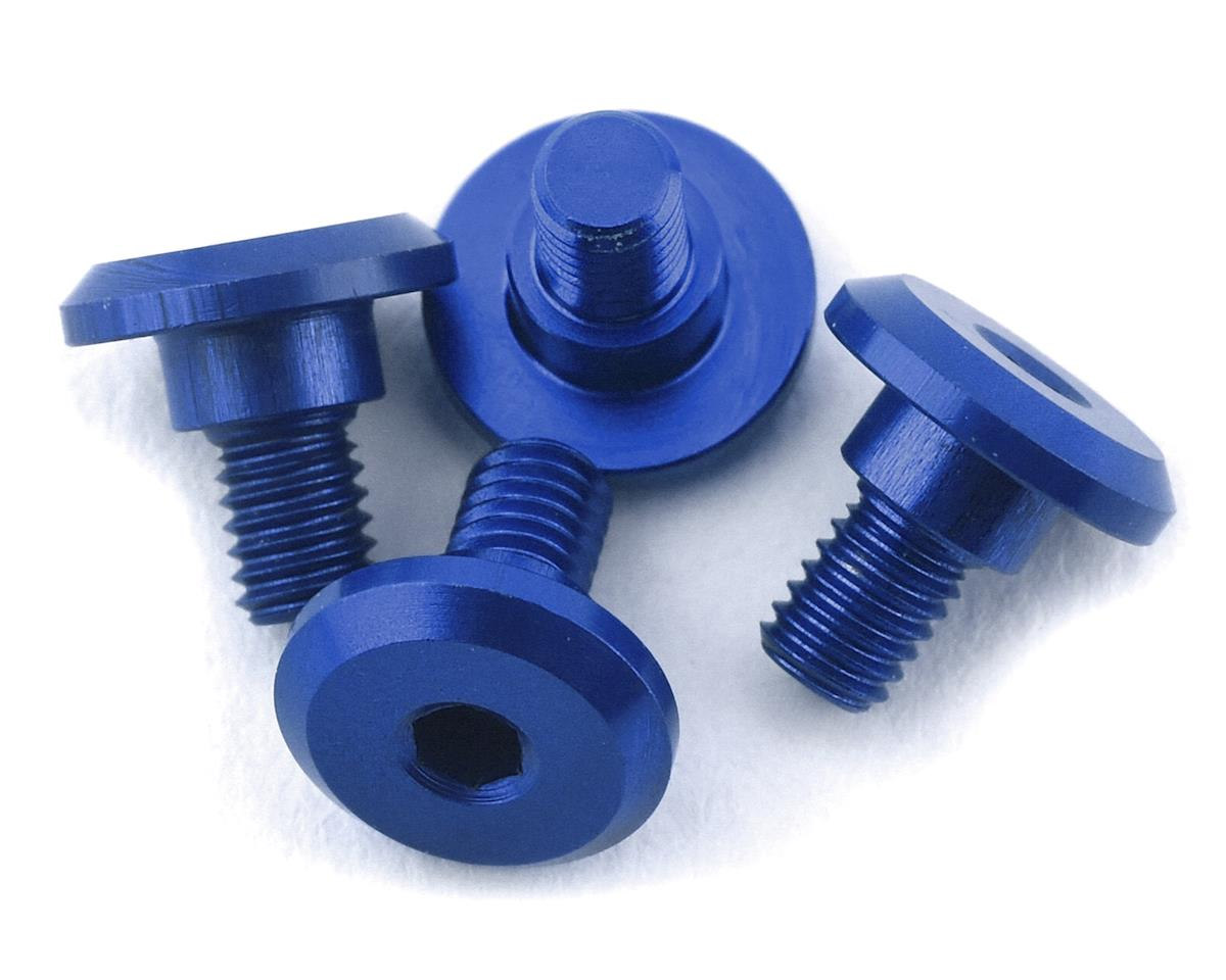 1UP Racing 3x4mm Aluminum Servo Mounting Screws w/4.2mm Neck (Blue) (4)