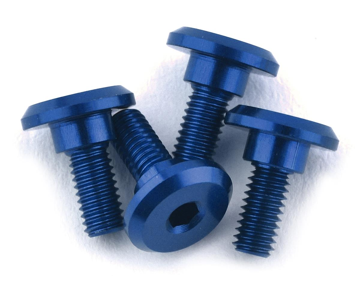 1UP Racing 3x6mm Aluminum Servo Mounting Screws w/4.2mm Neck (Blue) (4)