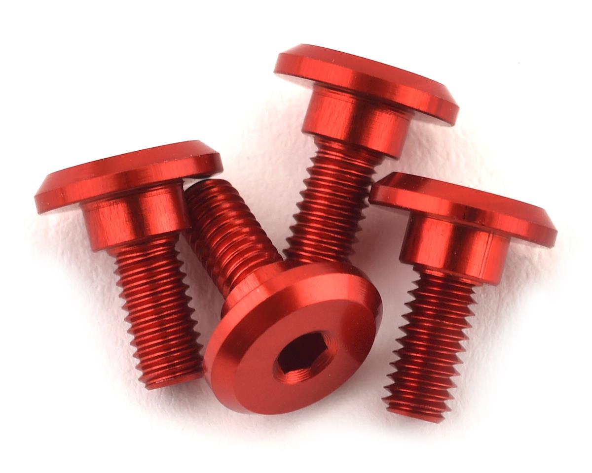 1UP Racing 3x6mm Aluminum Servo Mounting Screws w/4.2mm Neck (Red) (4)