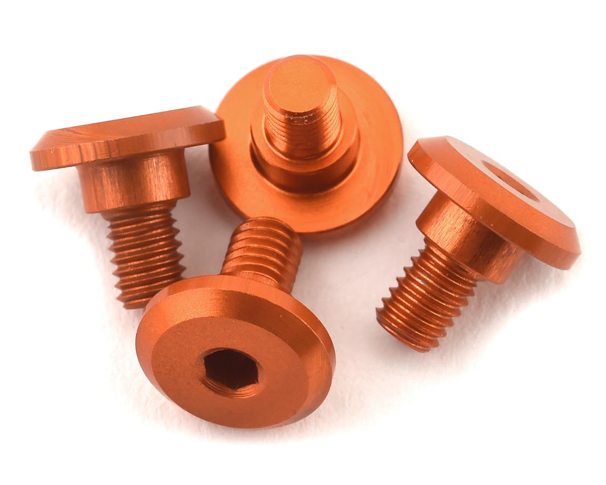 1UP Racing 3x4mm Aluminum Servo Mounting Screws w/4.2mm Neck (Orange) (4)