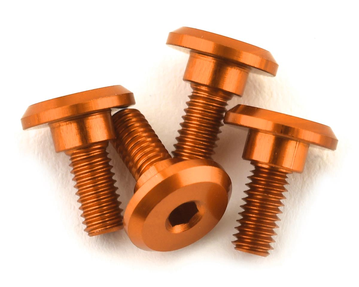 1UP Racing 3x6mm Aluminum Servo Mounting Screws w/4.2mm Neck (Orange) (4)
