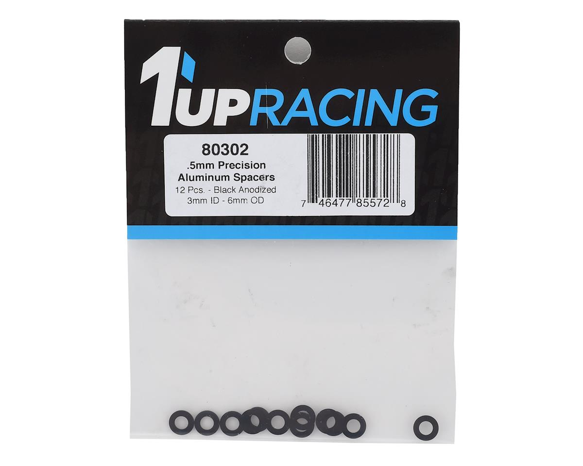 1UP Racing 3x6x0.5mm Precision Aluminum Shims (Black) (12)