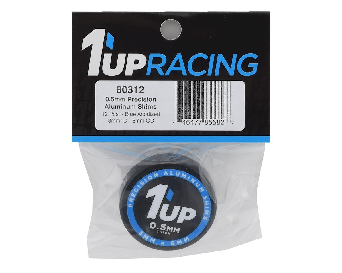 Image 2 for 1UP Racing Precision Aluminum Shims (Blue) (12) (5mm)