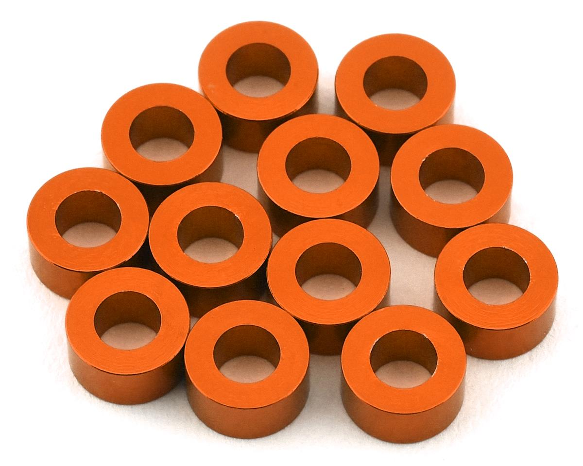1UP Racing Precision Aluminum Shims (Orange) (12) (3mm) (Yokomo YZ-2 DTM2)