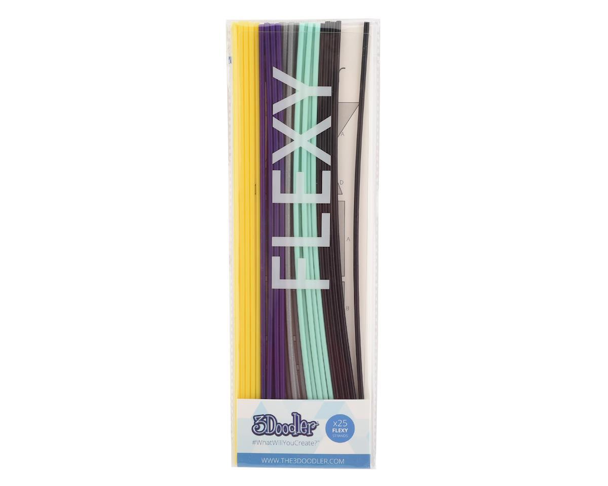 """3Doodler """"Retro"""" FLEXY 3D Printing Pen Filament (25)"""
