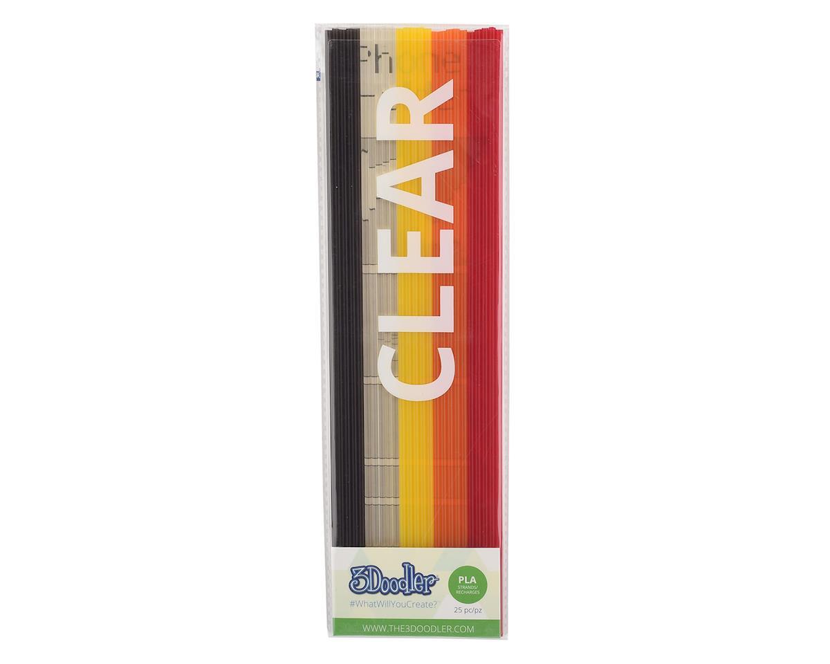 "3Doodler ""Clearly Autumn"" PLA 3D Printing Pen Filament (25)"