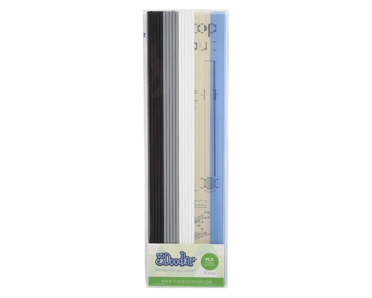 """3Doodler """"The Essentials"""" PLA 3D Printing Pen Filament (25)"""