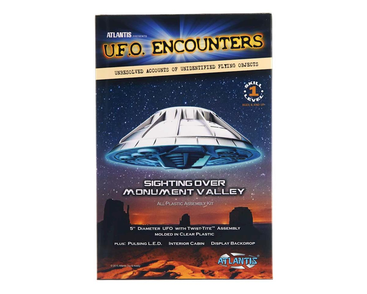 "Atlantis Models AMC-1007 Monument Valley UFO 5"" Lighted Clear Ed"