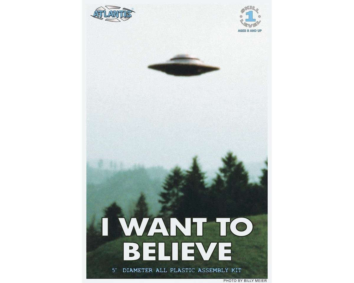 "Atlantis Models AMC-1008 I Want To Believe Photo 494 5"" UFO Billy Meier"