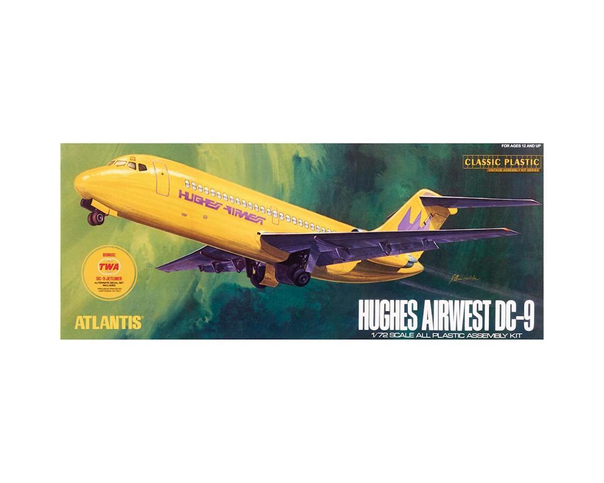 Atlantis Models AMC-6004 1/72 DC-9 Airliner Hughes Airwest & TWA