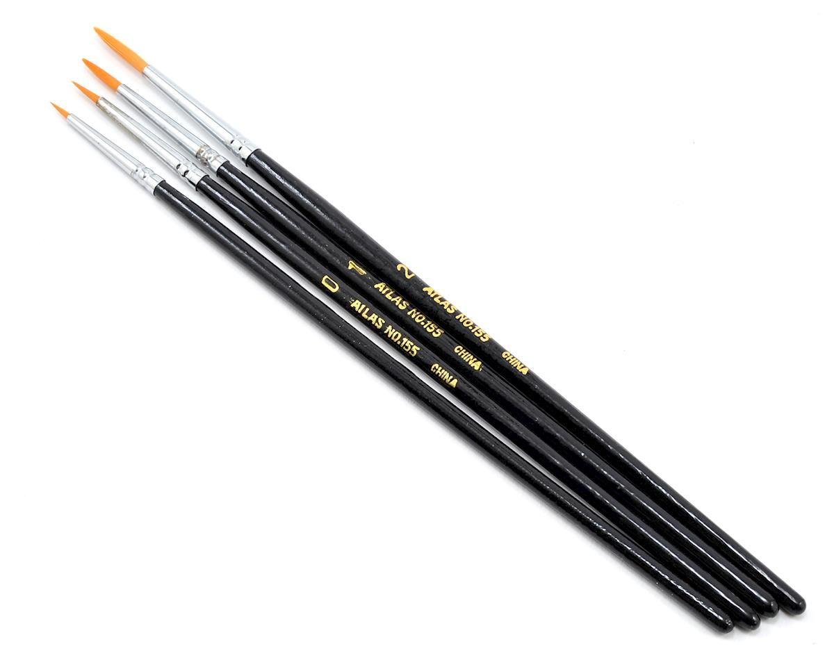 Taklon Detail Acrylic Round Brush Set (4)