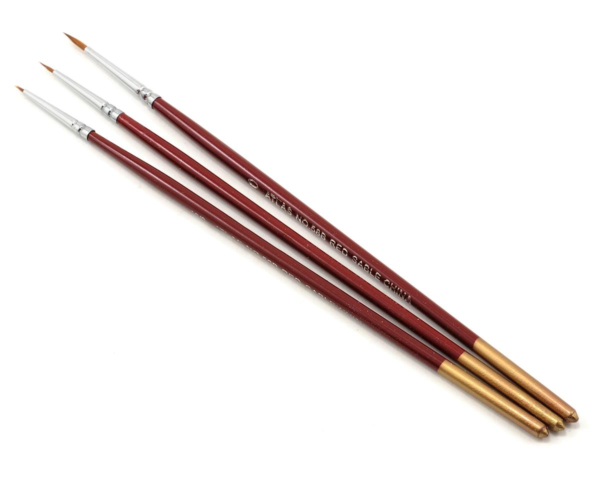 Image 1 for Atlas Brush Red Sable Brush Set 10/0-5/0-0 (3)