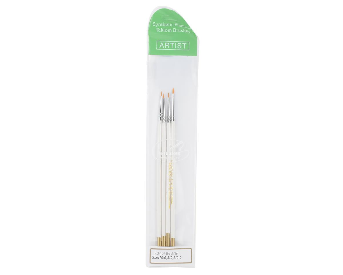 Atlas Brush Taklon Spotter Detail Brush Set (4)