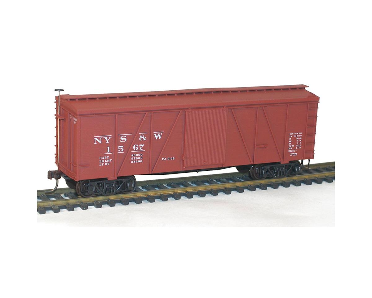 Accurail HO KIT 36' Fowler Wood Box, NYS&W
