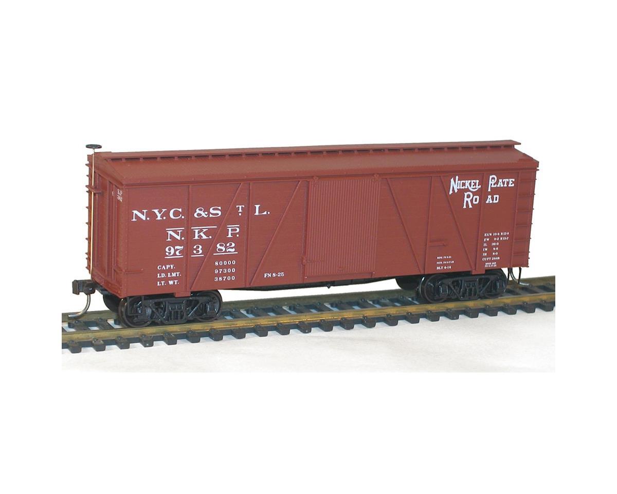 HO KIT 36' Fowler Wood Box, NKP