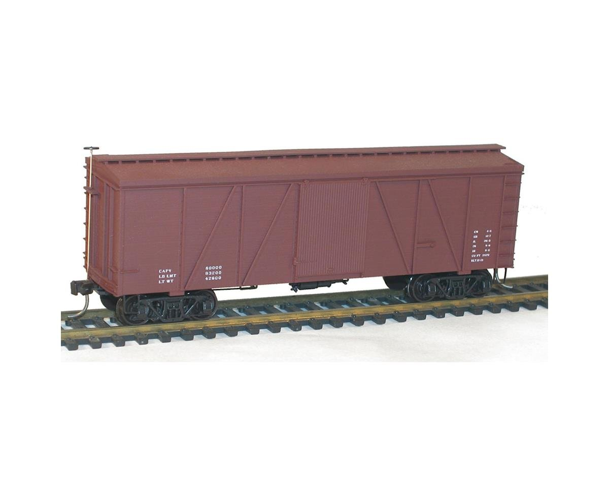 Accurail HO KIT 36' Fowler Wood Box, Data/Red