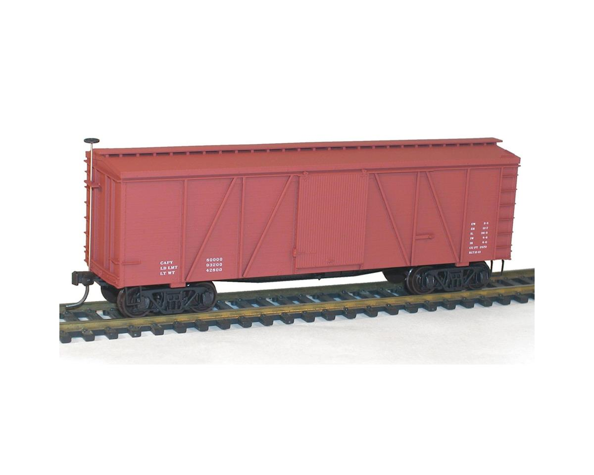 Accurail HO KIT 36' Fowler Wood Box, Data/Oxide