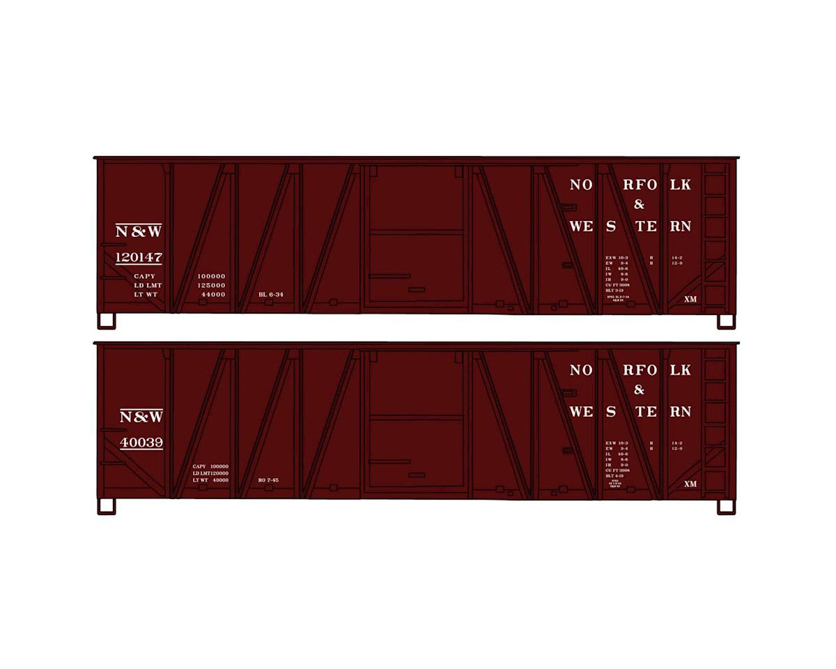 HO KIT 40'Wood Box, N&W (2) by Accurail